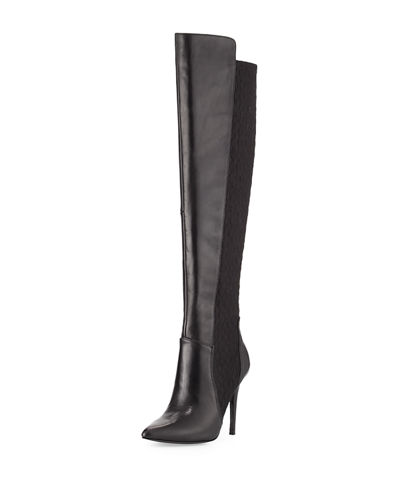 Persona Leather Over the Knee Stretch Boot