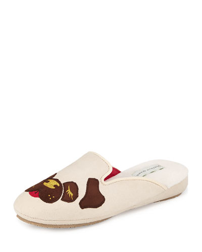 Pug Dog Microsuede® Slipper