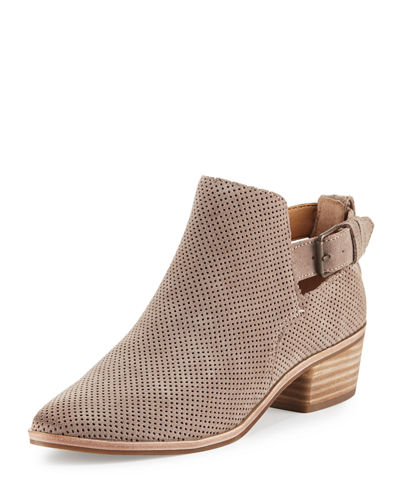 Kato Perforated Suede Bootie