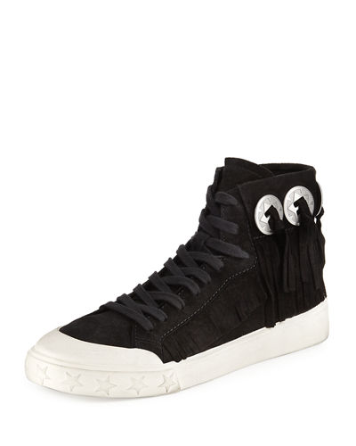 Marlow Fringe Suede High Top Sneaker