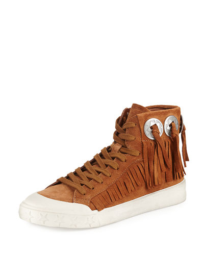 Marlow Fringe Suede High-Top Sneaker