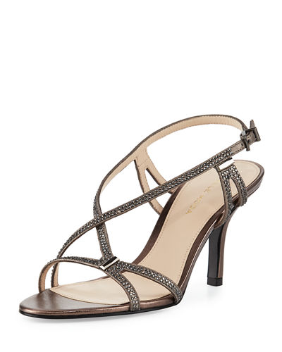 Ivan Crystal Strappy Sandal