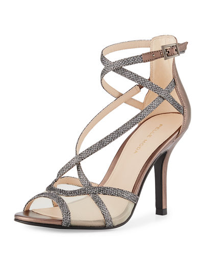 Everly Crisscross Metallic Sandal