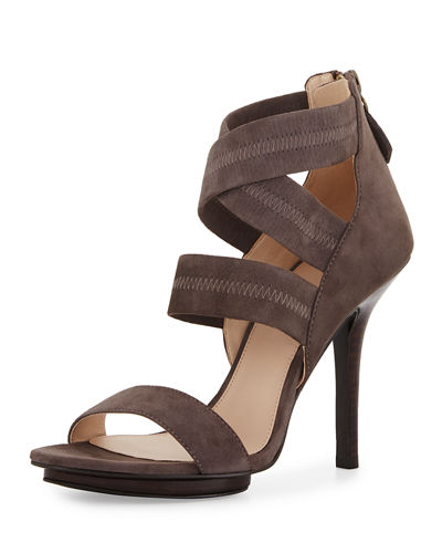 Rita Stretch-Suede Sandal