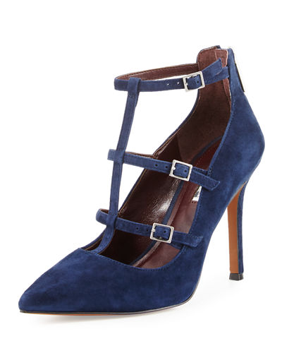Tamerra Strappy Caged Suede Pump