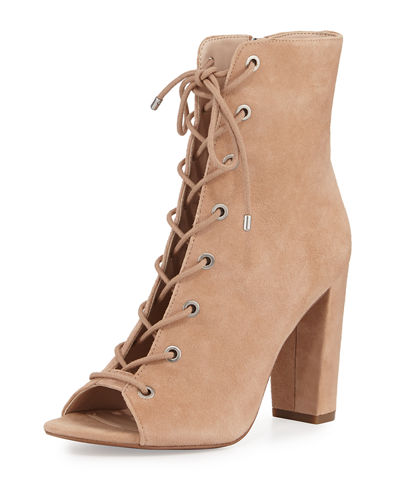 Ripley Suede Lace-Up Bootie