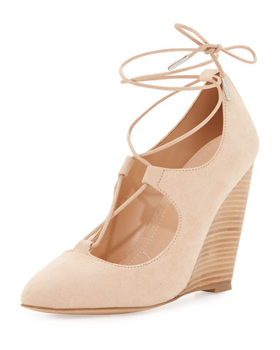 Ima Lace-Up Wedge Pump