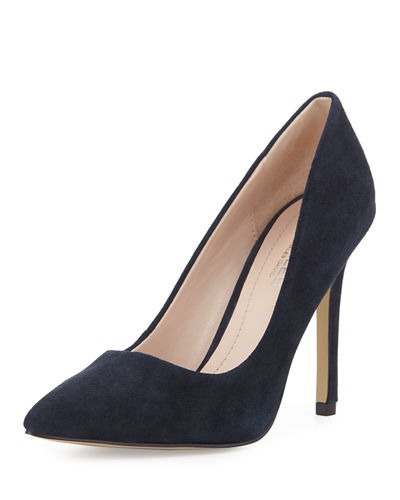 Phoebe Suede Pointed-Toe Pump