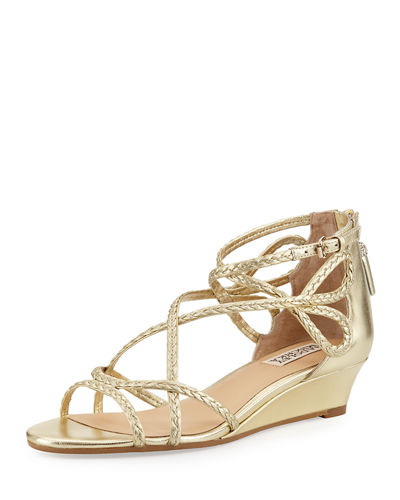 Corrine Braided Demi-Wedge Sandal