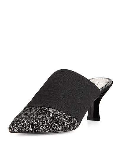 Hudson Pointed-Toe Mule