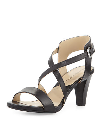 Briale Crisscross Leather Sandal