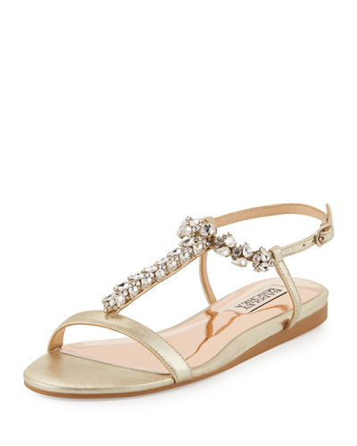 Amuse II Metallic Embellished Sandal
