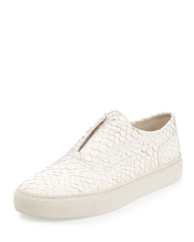 Nelson Python-Embossed Leather Skate Shoe