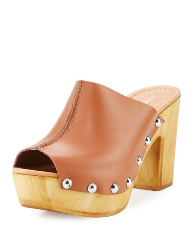 Cari Leather Studded Platform Sandal