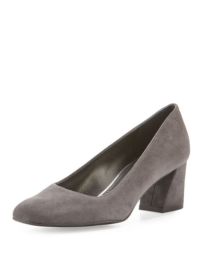 Marymid Suede Mid-Heel Pump