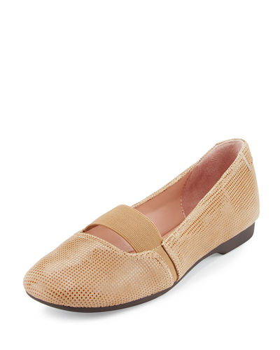 Bary Patterned Suede Flat