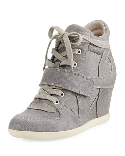 Bowie Denim Wedge Sneaker