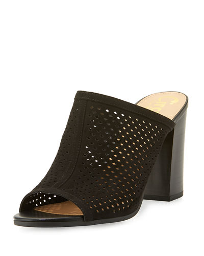 Estelle Perforated Slide Sandal