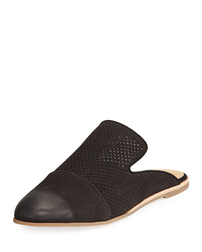 Asa Perforated Slide Flat Mule