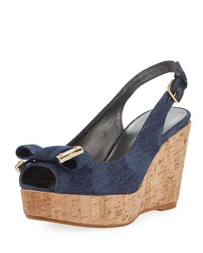 Bodajean Bow Cork Wedge Sandal