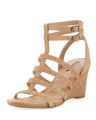 Fitzy Suede Gladiator Wedge Sandal