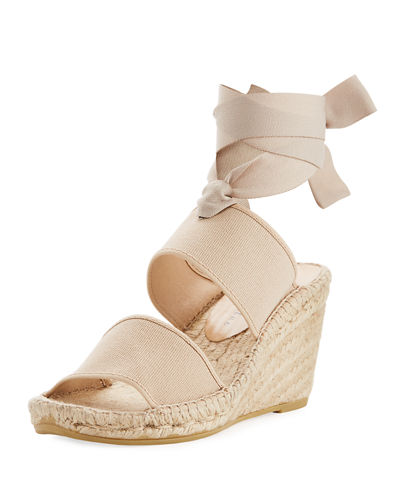 Ankle-Wrap Wedge Espadrille
