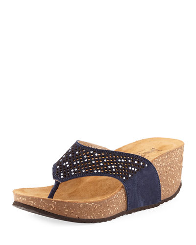 Willow Embellished Cork Wedge Sandal