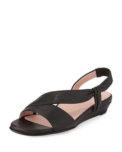 Ion Leather Demi-Wedge Sandal
