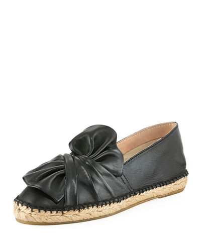 Knot Leather Espadrille Loafer