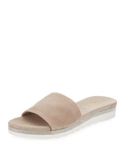 Knight Suede Metallic Slide Sandal
