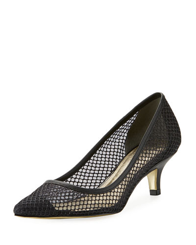 Lois Metallic Mesh Pump
