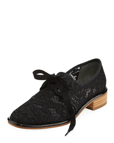 Paisley Lace-Covered Oxford