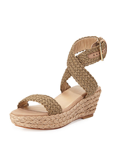 Alexlo Crochet Wedge Sandal