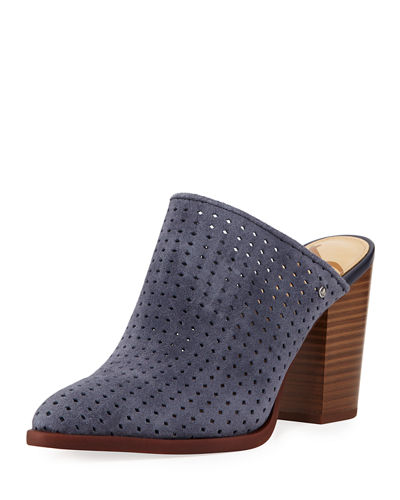 Bates Perforated Suede Mule