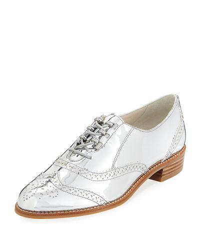 Darling Lace-Up Metallic Loafer