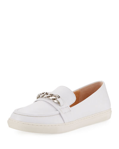 Cora Chain-Embellished Slip-On Loafer