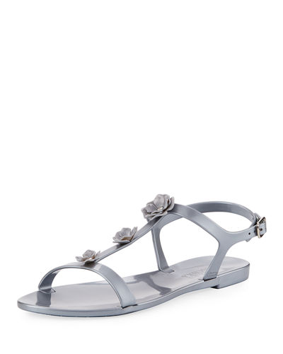 Bahama Flower Metallic Sandal