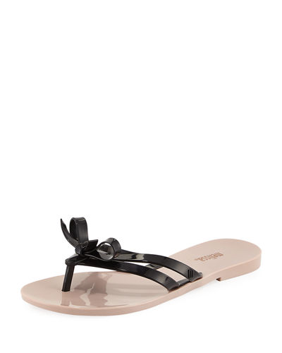 Girlish Jelly Bow Thong Sandal