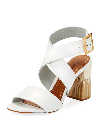 Aura Leather Ankle Wrap Sandal