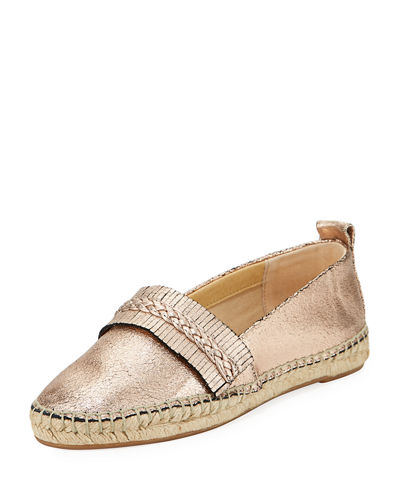 Jaime Metallic Slip-On Espadrille