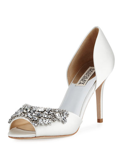 Can Dance Peep Embellished Pump