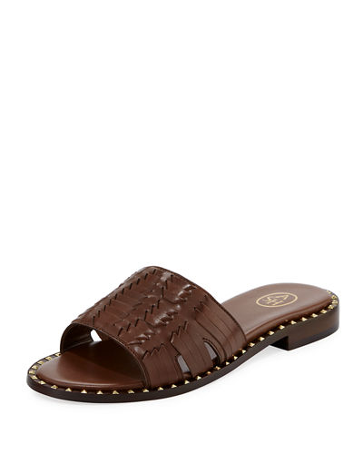 Playa Spiked Flat Slide Sandal