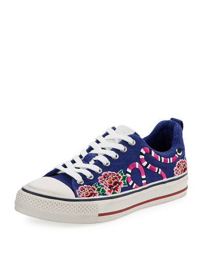 Vipera Bis Embroidered Low-Top Sneaker