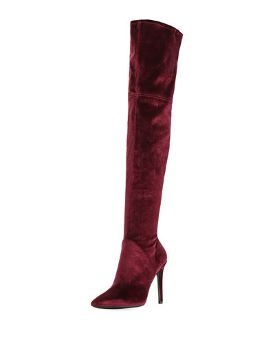 Ayla Velvet Over-The-Knee Boot