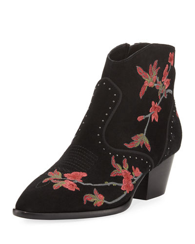 Heidi Suede Embroidered Boot