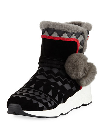 Mongolia Fur-Lined Sport Sole Bootie