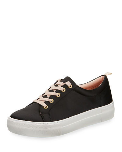 Amber Lace Up Satin Sneaker