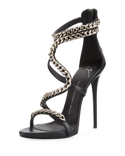 Snake Chain High Leather Sandal