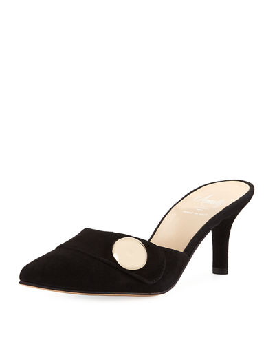 Patrick Point Toe Suede Mule