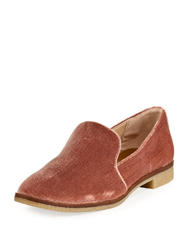 Codi Crepe Velvet Smoking Slipper